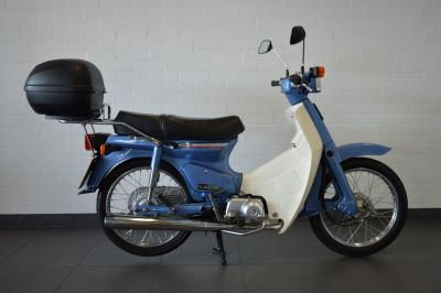 Honda C90 Cub 90 Moped Petrol Blue & WhiteHonda C90 Cub 90 Moped Petrol Blue & White at Franklins Ltd Port Erin