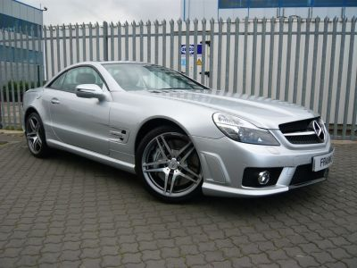 Mercedes-Benz SL Class 6.2 SL63 AMG Performance Pack Convertible Petrol Silver at Franklins Ltd Port Erin