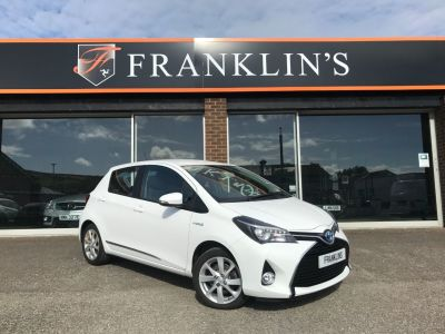 Toyota Yaris 1.5 Yaris HYBRID Excel CVT Hatchback Petrol / Electric Hybrid WhiteToyota Yaris 1.5 Yaris HYBRID Excel CVT Hatchback Petrol / Electric Hybrid White at Franklins Ltd Port Erin